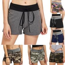 5667b30438 Adjustable Running Shorts Women Yoga Loose Sport Wear High Elastic  Camouflage Jogging Fitness Shorts Female Quick