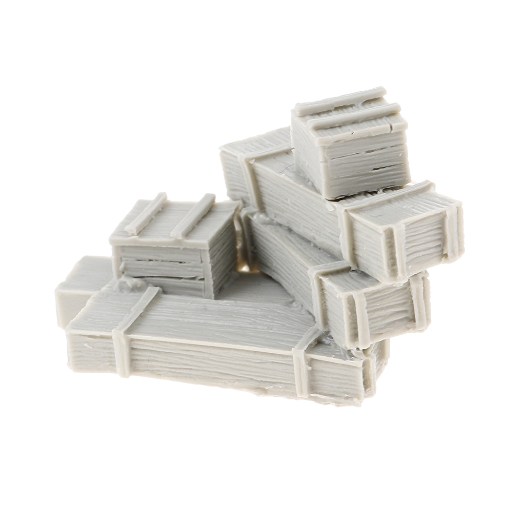 6 Crates <font><b>1/35</b></font> <font><b>Resin</b></font> Unpainted Ammunition Boxes & Ammunition Crates <font><b>Accessory</b></font> Set image