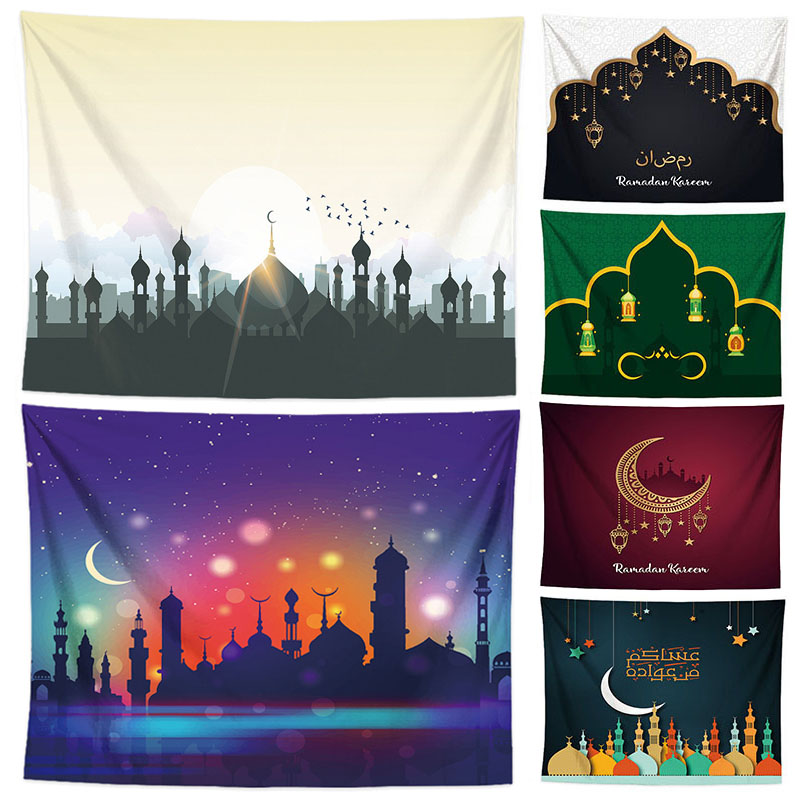 150*130cm Ramadan Decoration Tablecloth Eid Mubarak Polyester Table Cover Ramadan Kareem Islamic Muslim EID Decor for Home150*130cm Ramadan Decoration Tablecloth Eid Mubarak Polyester Table Cover Ramadan Kareem Islamic Muslim EID Decor for Home