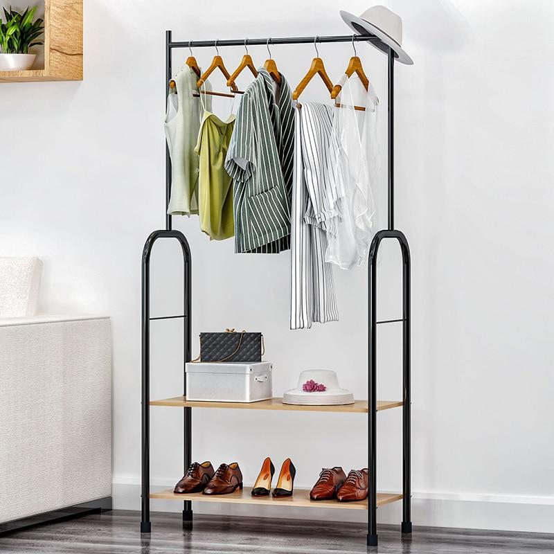 Stupendous Fashion Coat Rack Clothes Rack Storage Shelf Iron Hanger Single Rod Drying Rack Double Shelf Shoe Rack Living Room Furniture Download Free Architecture Designs Rallybritishbridgeorg