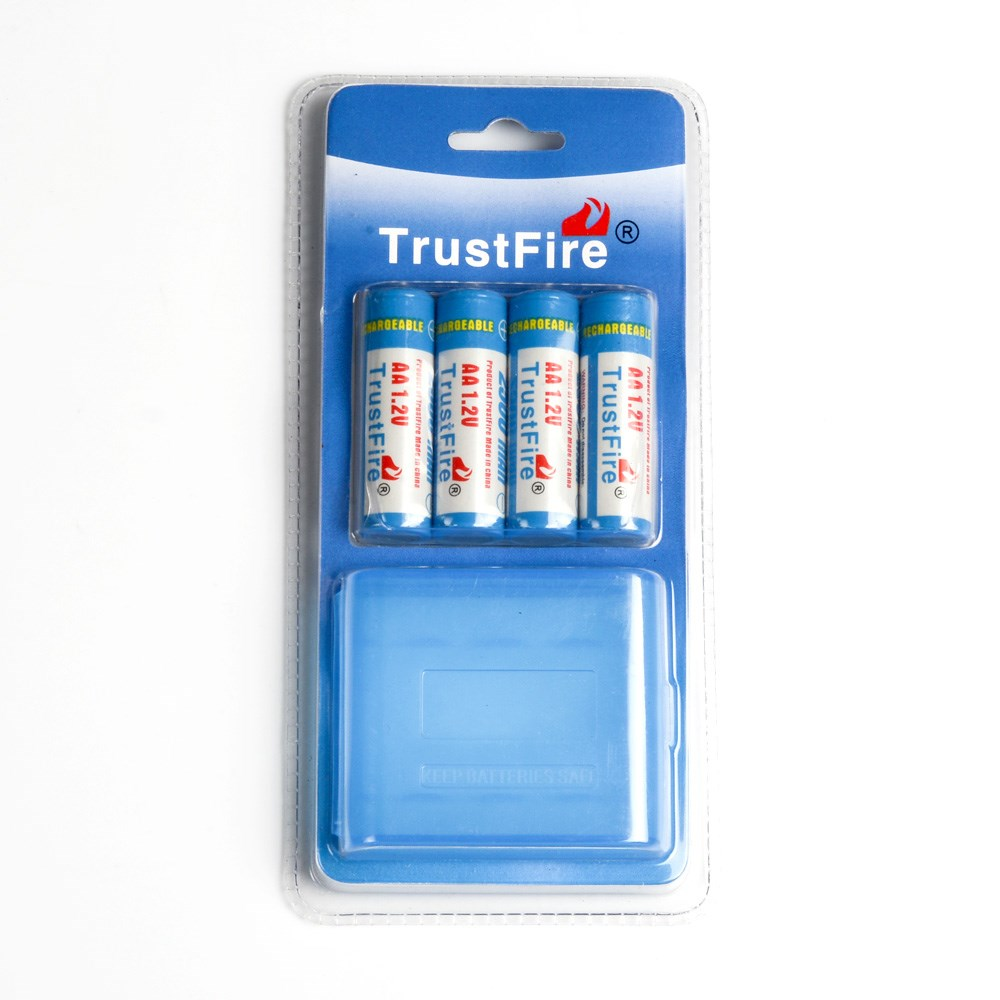 8pcs lot TrustFire AA 2700mAh 1 2V Rechargeable Ni MH Battery AA Batteries With Package Box For Toy Flashlight Remote Control in Rechargeable Batteries from Consumer Electronics