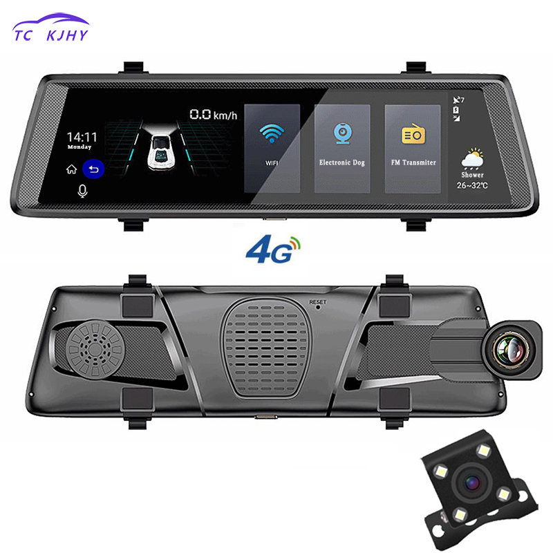 Nouveau 10 pouce Arrière Vue Intelligente Miroir Haut-parleurs pour Voiture Dvr Navigateur Android Dash Caméra Enregistreur Bluetooth Streaming Media