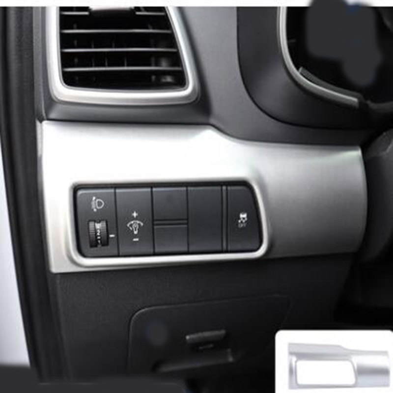 For Ford Explorer 2016 stainless Headlight control Switch Frame Cover trim