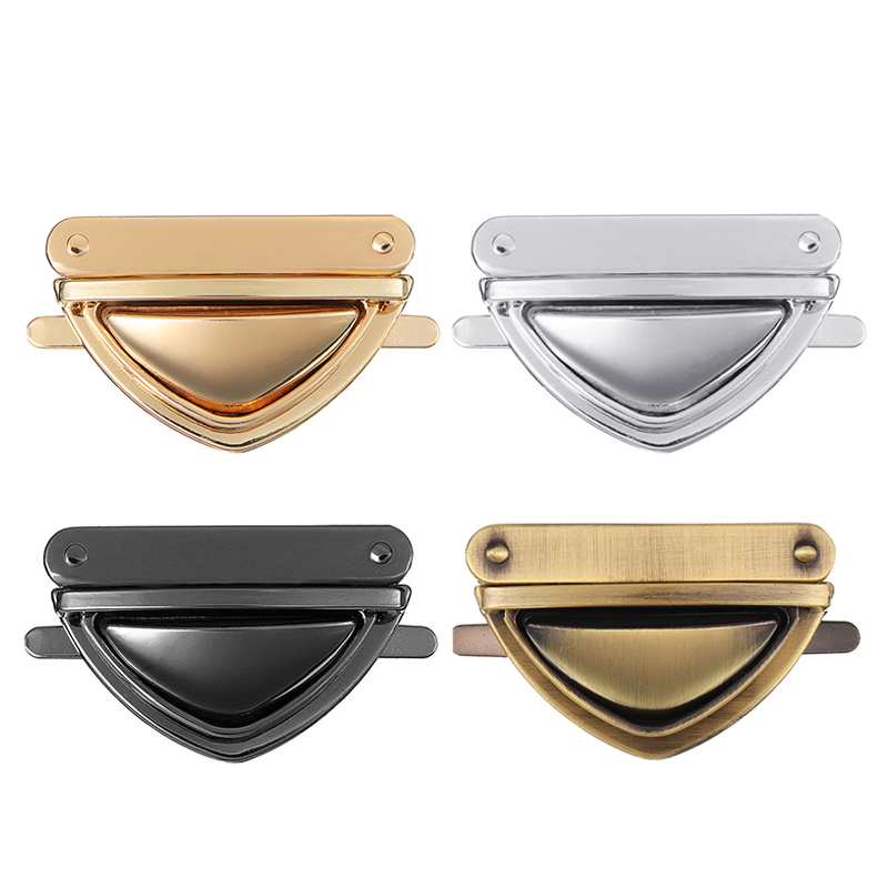 AEQUEEN DIY Bag Accessories Parts Metal Turn Clasp Closure For Handbag Twist Locks Hardware Closure Purse Lock Bronze Black цена