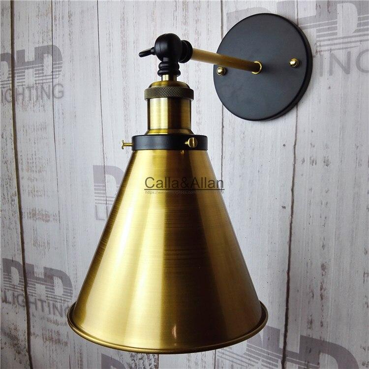 Промышленные Бронзовый настенный светильник E27 покрытием лофт американский Ретро Винтаж Железный бра 90 В-240 В 40 вт антикварная лампа промыш...