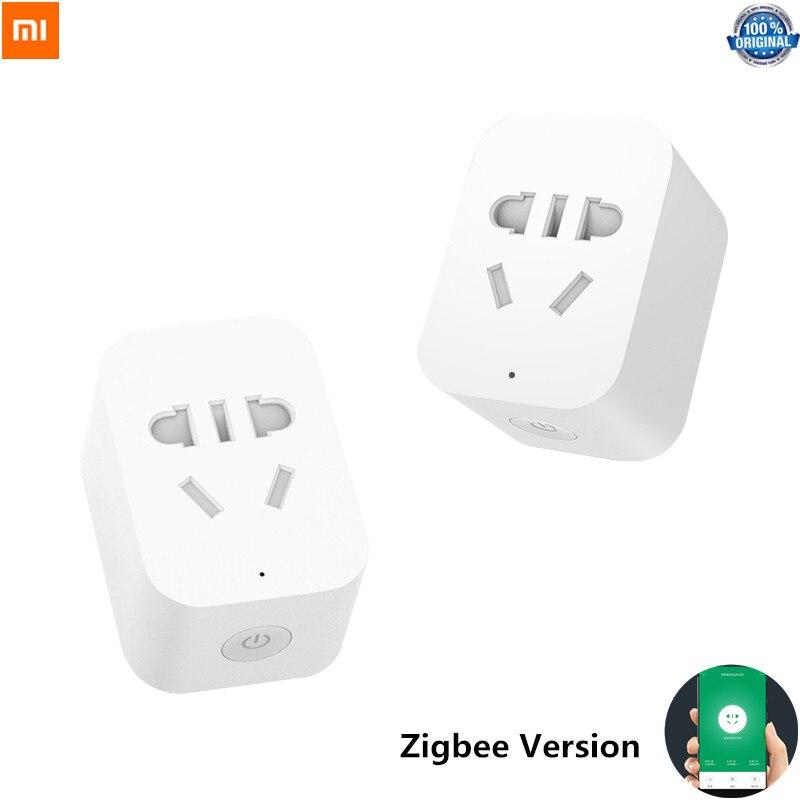 Original Xiao mi mi Tomada Inteligente ZigBee Versão APP WIFI Temporizador De Controle Remoto De Detecção De Energia com mi Casa Inteligente APLICATIVO para casa