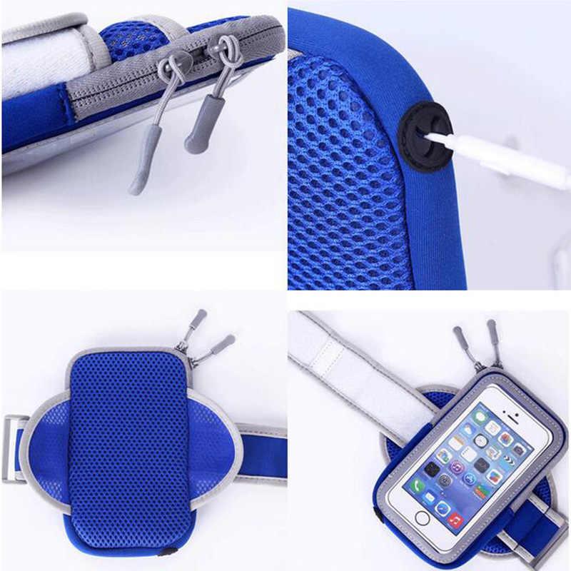 Kol bandı Huawei Onur 8 Için Su Geçirmez Şeffaf kılıf çanta Kılıfı Koşu Spor SALONU Spor telefon tutucu Huawei Honor 8 lite Için el
