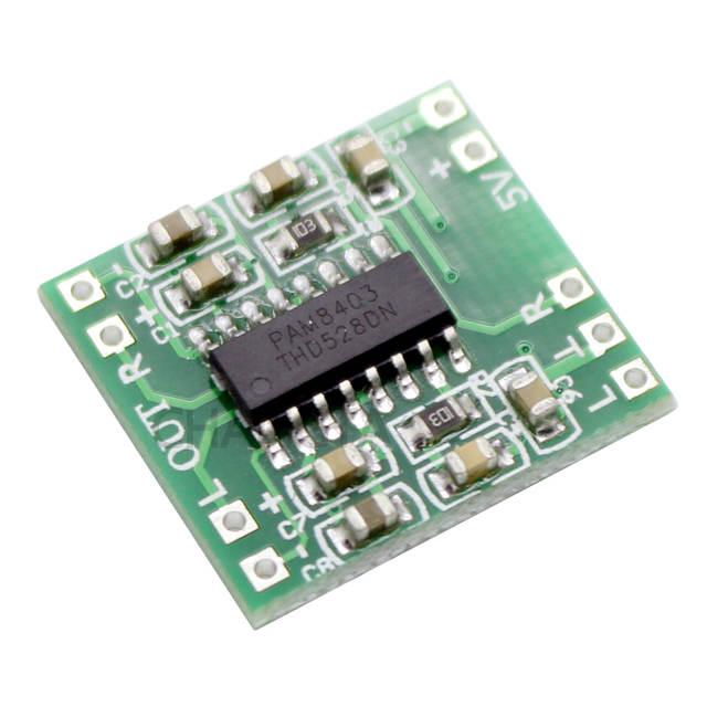 PAM8403 Mini Digital Amplifier Board 2 * 3W Class D Digital 2 5V To 5V  Power Amplifier Board