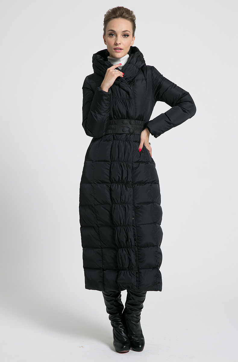 2019 new womens winter Long down jackets hooded <font><b>belt</b></font> big size black navy blue plus size thickening outerwear coats image