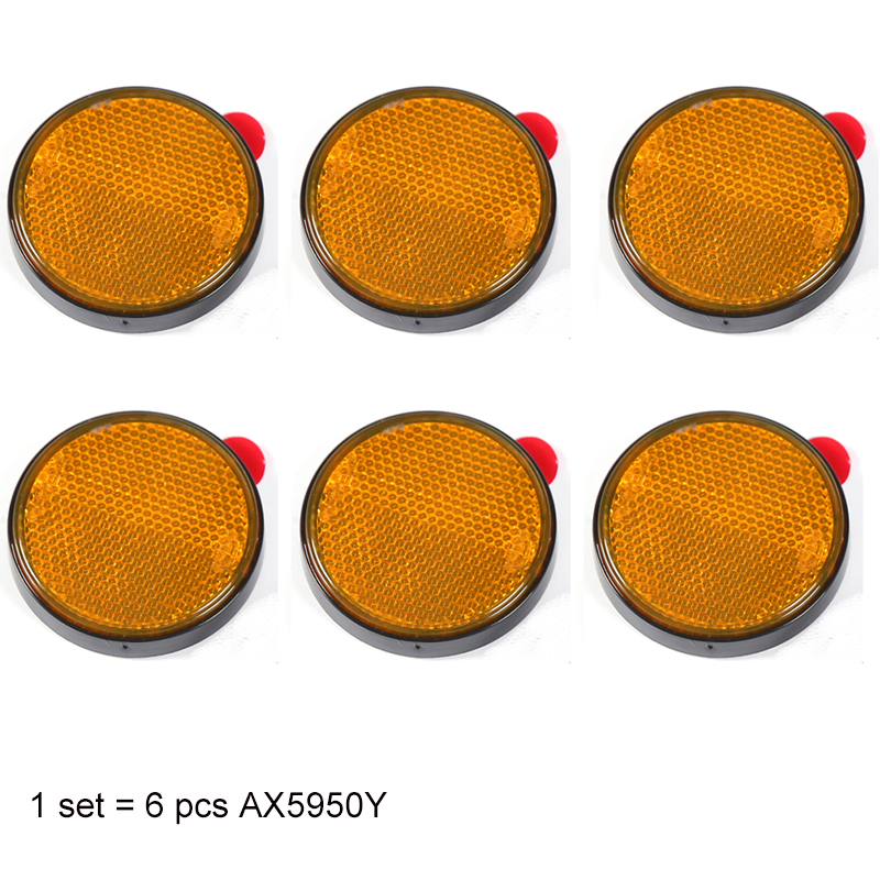 Aohewe Amber Round Reflector Self Adhesive E Ce Approval For Trailer Truck Lorry Bus Rv Position Light
