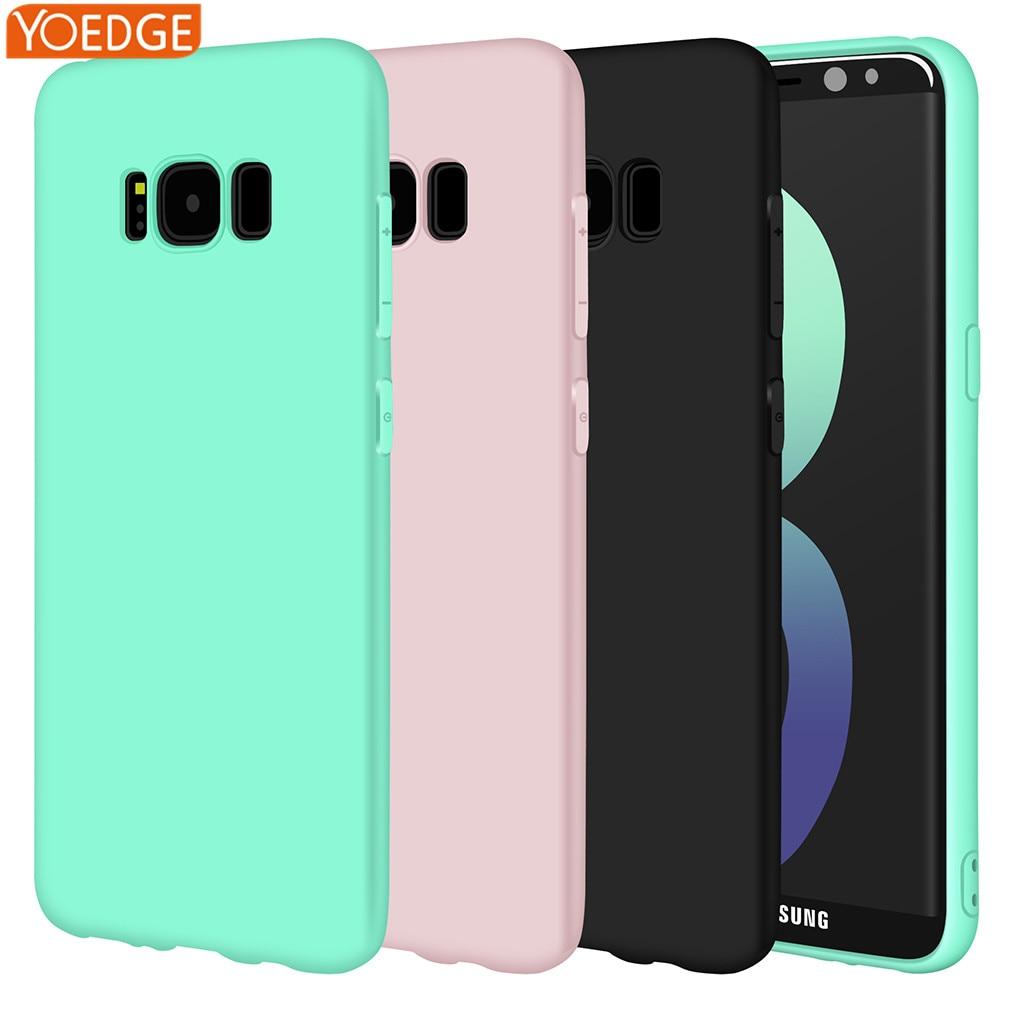Matte Soft Silicone TPU for Samsung Galaxy A3 A5 A7 J1 J2 J3 J5 J7 2016 2017 S5 S6 S7 Edge S8 Plus Note 8 Grand Prime Cases