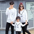 Autumn Crewneck Sweatshirt V Ribbon Family Matching Clothing Mother Daughter T-Shirts Family Set Women Boy Girl Kid T-Shirt HP01