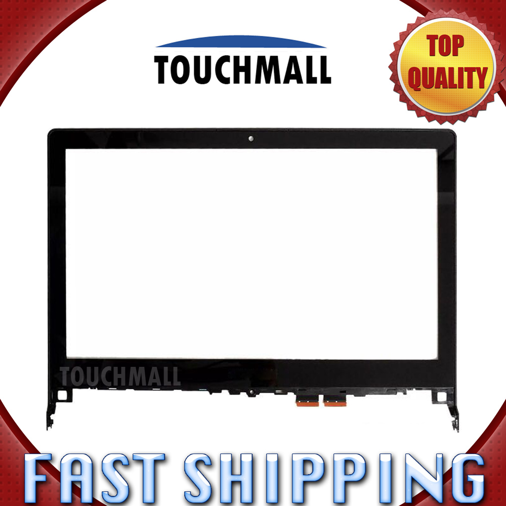 For Lenovo Flex2 Flex 2 14 Flex 2-14 Replacement Touch Screen Digitizer Glass with Bezel Frame 14-inch Black For Laptop