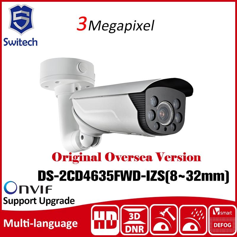 Hikvision  DS-2CD4635FWD-IZS(8~32mm) 3MP Smart IP Vandal-proof Bullet CCTV IP Camera Original Oversea Version ONVIF видеокамера ip hikvision ds 2cd2642fwd izs цветная