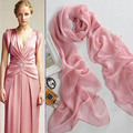 Lady Women scarves long Soft Polyester Filber Chiffon candy Scarf Wedding Party High Quality scarves Wrap Shawl Stole pinks L001
