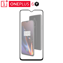 Original Oneplus 6T 3D Tempered Glass Full Cover Screen Protector Perfect Fit Curved Edge Super Hard 9H Clear Oleophobic Coating
