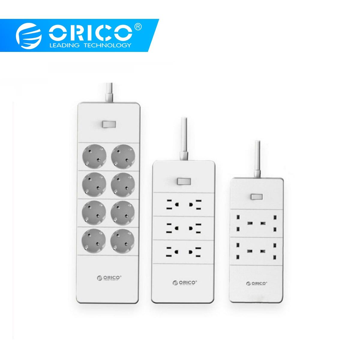 ORICO Power Strip Surge Protector 5 USB Ports EU UK US Extension Socket 4 6 8