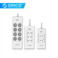 ORICO Power Strip Surge Protector 5 USB Ports EU UK US Extension Socket 4 6 8 AC Outlets Multifunctional Smart Home Electronics