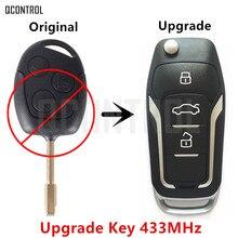 QCONTROL обновленный Автомобильный Дистанционный ключ для Ford Focus C-Max D-Max Mondeo Fiesta Galaxy Fusion FO21 Blade 433 МГц