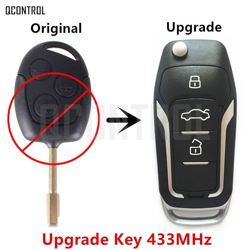 QCONTROL Upgrade Auto Funkschlüssel für Ford Focus C-max D-Max Mondeo Fiesta Galaxy Fusion FO21 Klinge 433 MHz