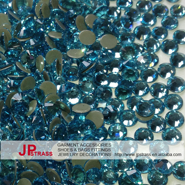 ss20 5mm hot fix rhinestone aquamarine 1440 pieces each lot ; free shipping rhinestones crystal for high fashion dress