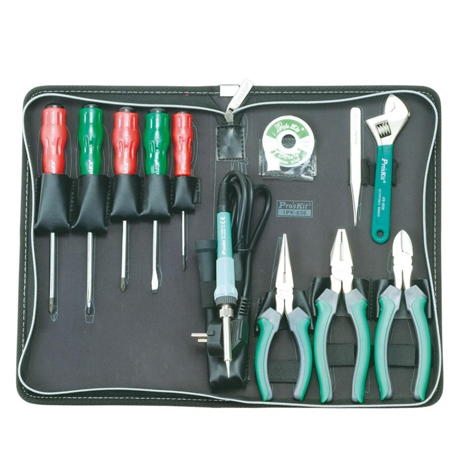 Продажа Prokit набор инструментов для ремонта дома 13 комплектов общий набор инструментов для дома крестовая отвертка 1PK 636B 1