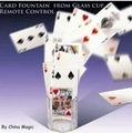 Free Shipping! Card Fountain From Glass Cup Remote Control-Stage,Close Up magic props, Accessories,card,magic tricks,gimmick