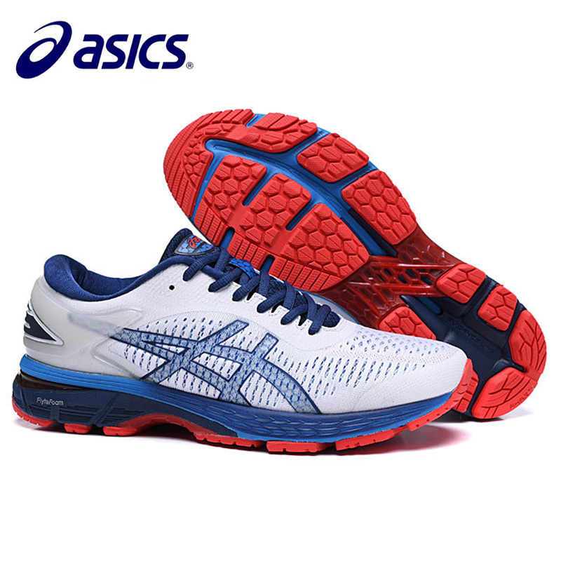 Newest Men's  Original Authentic  ASICS GEL-KAYANO 25 Cushion Light Running Shoes Breathable Sneakers Sports  Leisure Outdoor