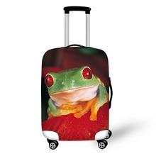 cover voor koffer Fashion Leuke kikker Koffer Bagage Beschermt Covers Beschermhoes Elastische reisaccessoires voor 18-30 inch