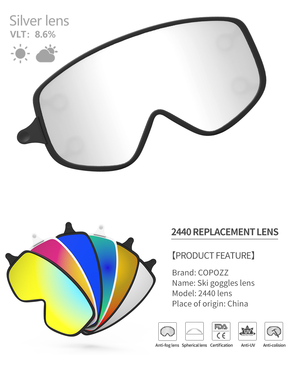 a9ef0d80233f Ski lens Magnetic Dual-use Outer Lens for 2440 Snowboard Goggles ...