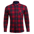 Men Velvet Thickening Warm Shirt Plaid Long Sleeve Men's Winter Casual Brand Clothing M-4XL Plus Size Shirts Camisa Masculina