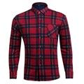 Men Velvet Thickening Warm Shirt Plaid Long Sleeve Men's Winter Casual Brand Clothing M-4XL Plus Size Shirts Camisa Masculina