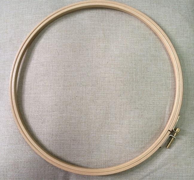 Dia28cm dřevěné vyšívací obruče kruh kulaté dřevěné tamburské rámové umění řemeslo kutilství nástroje křížový steh obruč nástroje
