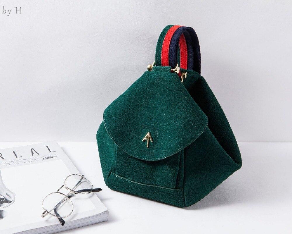 Por H 2019 designer de luxo camurça saco de bolinho de couro senhoras moda top alça de balde saco itbag cinta larga mulheres tote