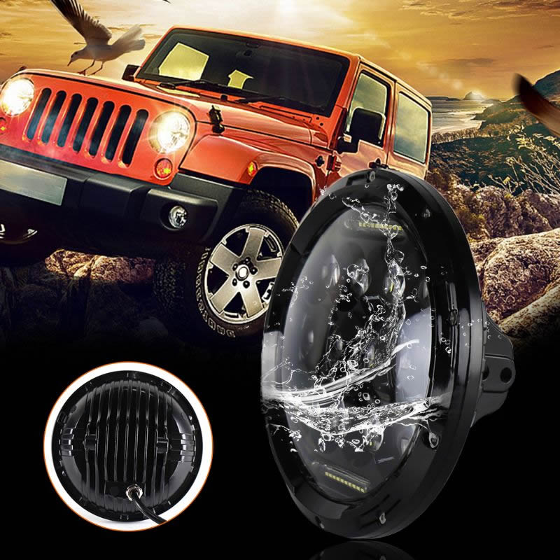 7inch 75W LED Headlight Car Led Driving Light Hi/Lo Beam DRL H4 H13 For Jeep Wrangler Car Headlight Bulbs(LED) Automobiles Lamp
