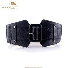 SISHION Vintage gran cinturones para mujer famosa marca diseñador parte elástica  Cinturones Mujer camello rojo traje 4994ffb53fe1