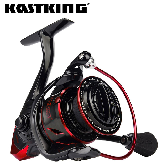KastKing Sharky III innovadoras resistencia al agua carrete giratorio 18 KG Max poder de arrastre de carrete de la pesca para Bass lucio pesca