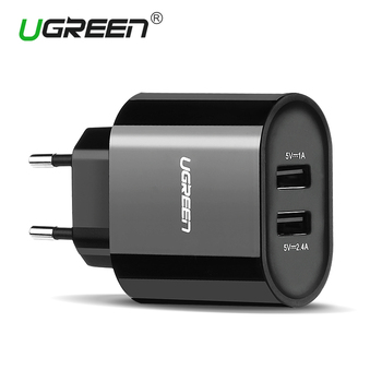 Ugreen 5V3.4A Universal USB Charger Travel Wall Charger Adapter Portable EU UK Plug Smart Mobile Phone Charger for iPhone Tablet