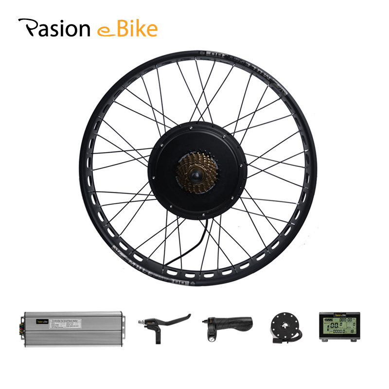 PASION E BIKE Motor Rad Fett Bike 48 V 1500 W Electric Bike Conversion Kit Hinten Rad Motor Bürstenlosen 190mm Fett Bike Rad Motor