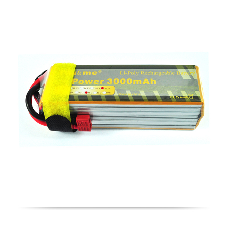 You&me Trex 500 fixed-wing Helcopter 3000MAH 22.2V 35C AKKU LiPo RC Battery For Boats 6S me before you