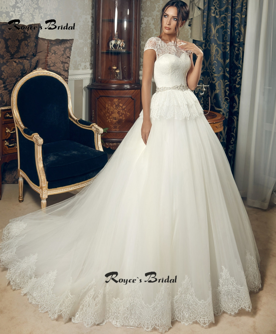 new design a line lace wedding dresses 2016 scoop cap sleeve beaded backless sexy wedding