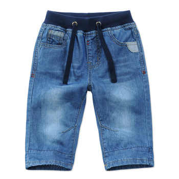 2018 New Kids Boys Denim Shorts Summer Toddler Clothing Boys Casual Solid Soft Cotton Jeans Shorts For Baby Boys 2-13Y DQ301