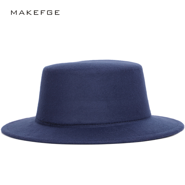 Best Wool Solid Color Ladies Fedoras Autumn Winter Men s Top Hat Bowler Hat  Woman Cylinder Felt Wide Brimmed Vintage Hats Trilby 96a61f33a5a