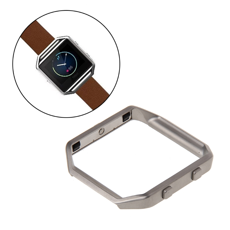 JAVRICK Stainless Steel Frame Case Cover For Fitbit Blaze Smart Watch Shell Replacement carlywet 23mm black 316l stainless steel replacement watch strap belt bracelet with case metal frame for fitbit blaze 23 watch