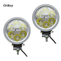 2PCS 18W Angel Eye LED Headlight Driving Fog Lamps Spot Head Light Car External Lights Halo