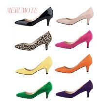 MERUMOTE Women's Low Heel Pointed Toe EU 35-46 Size Shoes Pumps