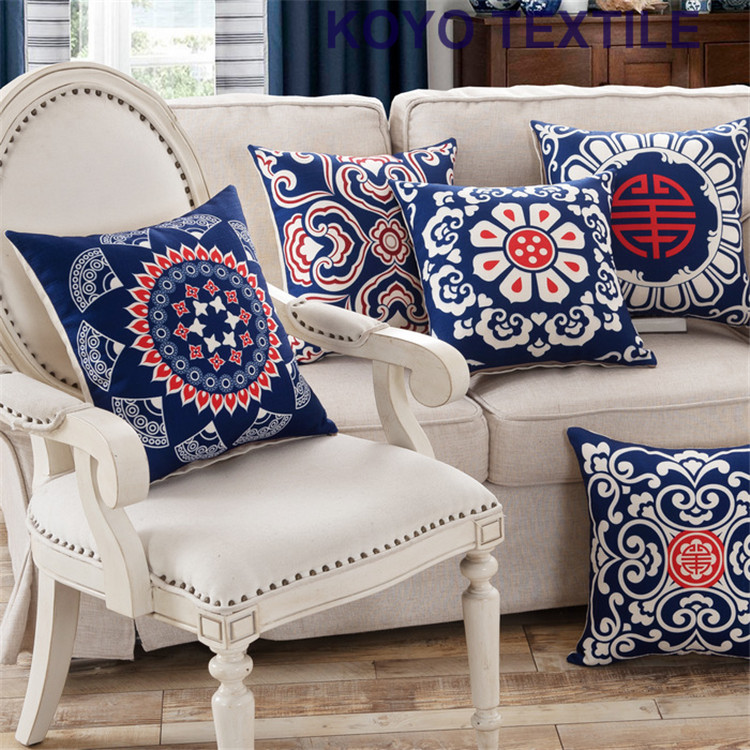 Vintage ethnic decoration cushions china blue and white for Sofas bonitos y baratos