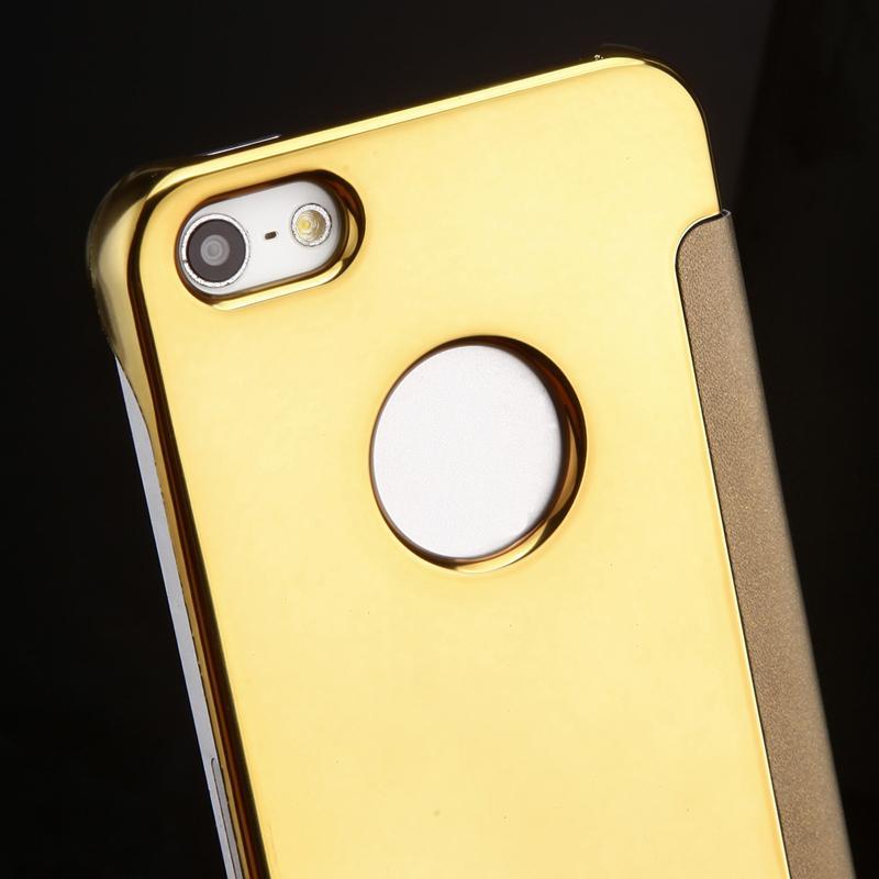 2015 lyxigt klart spegelfodral för iPhone 5 5S 5G Flip Smart Phone - Reservdelar och tillbehör för mobiltelefoner - Foto 4