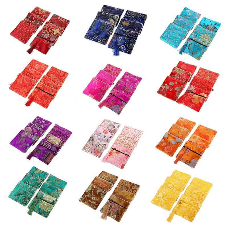1 Pcs Klassische Chinesische Stickerei Schmuck Lagerung Veranstalter Kleine Tasche Handgemachte Stickereien Kopfhörer Geschenk Tasche Supplement Die Vitalenergie Und NäHren Yin