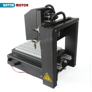 Image 5 - DE free VAT Desktop 3 Axis 2030 CNC Router Engraving Milling Machine with Emergency stop High strength steel + 400W Spindle